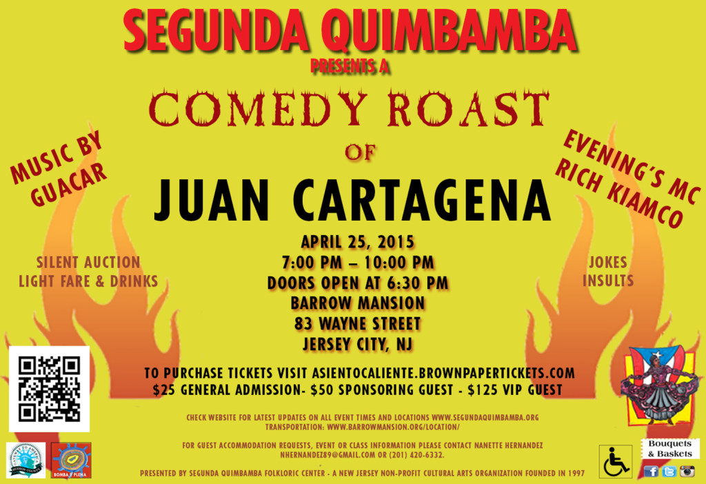 Flyer_Roast of Juan Cartagena