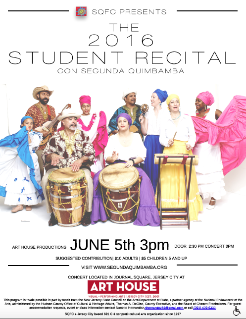 2016 recital flyer